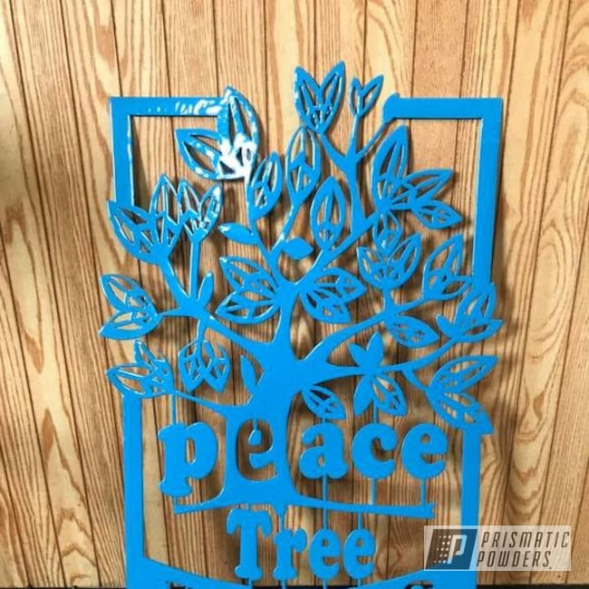 Powder Coating: RAL 5015 Sky Blue,Miscellaneous,Metal Sign