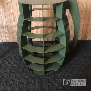 Powder Coated In Army Green