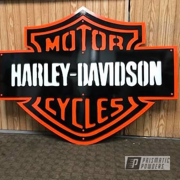 Powder Coated Harley Davidson Sign