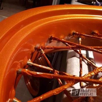 Orange Powder Coated Ktm Motorcycle Parts