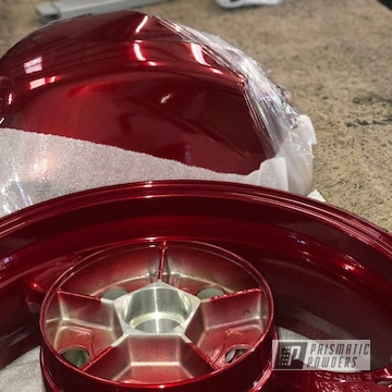 Candy Red Powder Coated Suzuki Gsxr Tank And Wheels