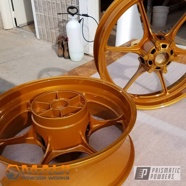 Powder Coating: Wheels,Clear Vision PPS-2974,Illusion Spanish Fly PMB-6920,Motorcycle Rims,1000,GSXR,Suzuki,Motorcycles