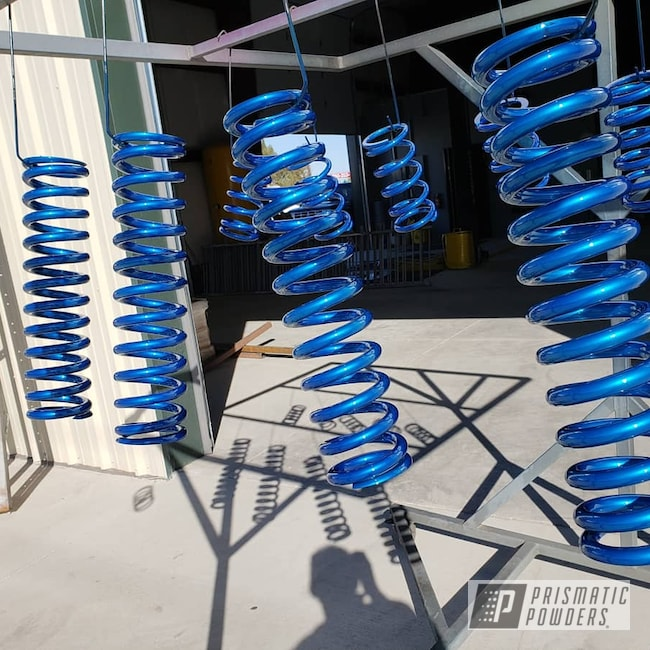 Powder Coating: King,SUPER CHROME USS-4482,Peeka Blue PPS-4351,Off-Road,Springs,Chevy,Duramax
