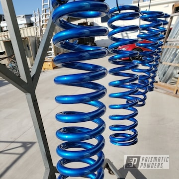 Blue Powder Coated Chevy Duramax Springs