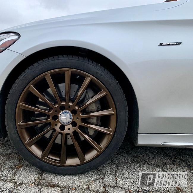 Powder Coating: Wheels,Automotive,Mercedes,AMG,Lazer Bronze PMB-4152
