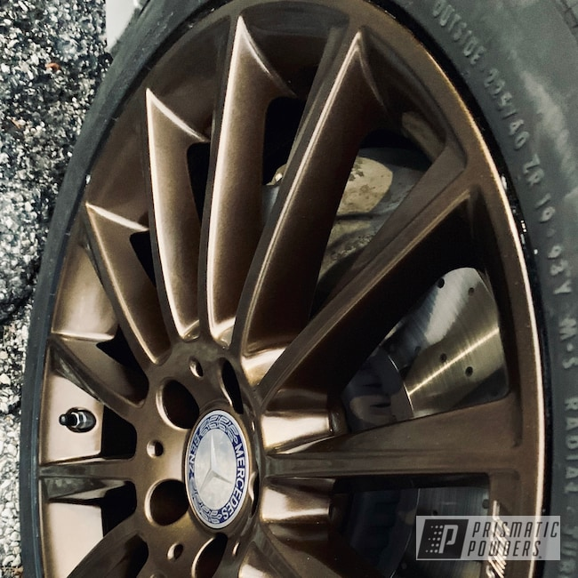 Powder Coating: Wheels,Automotive,Mercedes,AMG,Lazer Bronze PMB-4152,#mercedes,#bronze