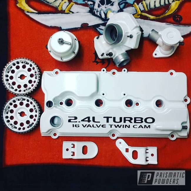 Powder Coating: Clear Vision PPS-2974,Engine Parts,Pearl Sparkle PMB-4130