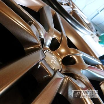 Powder Coated Bronze Audi Wheels