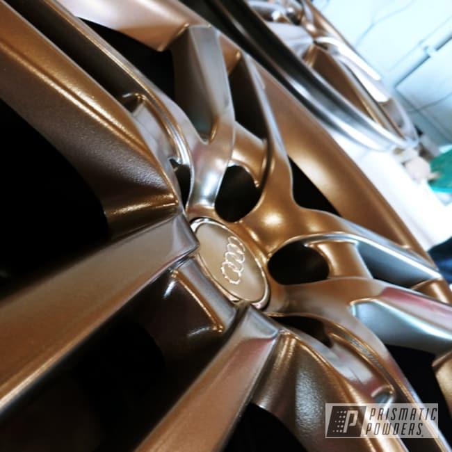 Powder Coating: Wheels,Automotive,19inch,GOLD RUBBED BRONZE UMB-4469,Audi