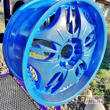 Powder Coated Metallic Blue Wheels