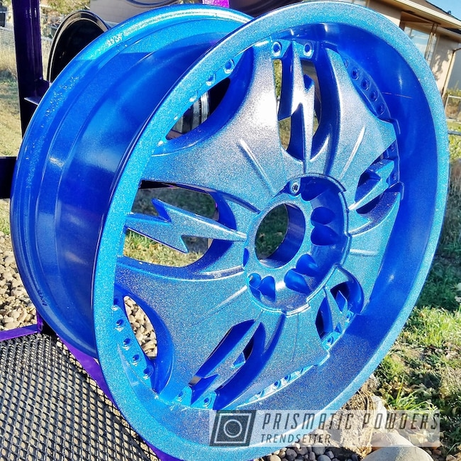 Powder Coating: Blue wheels,rockin rims,Colorado,Applied Plastic Coatings,Blue Madness PPB-4359,sparkle,Powder Coated Wheels