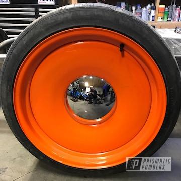 Bright Orange Powder Coated Wheel