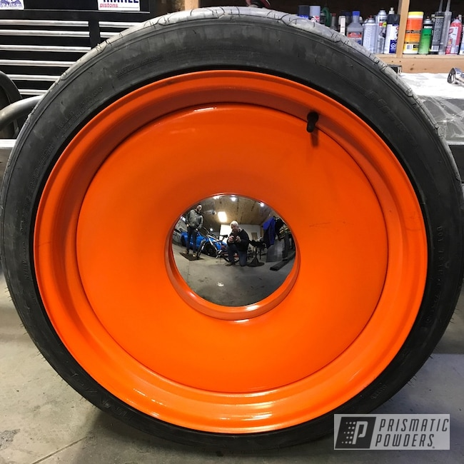 Powder Coating: Wheels,Automotive,Bright Orange PSS-0879