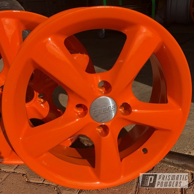 Powder Coating: Wheels,Automotive,Pumpkin Gold PMB-4132,#orangecontest