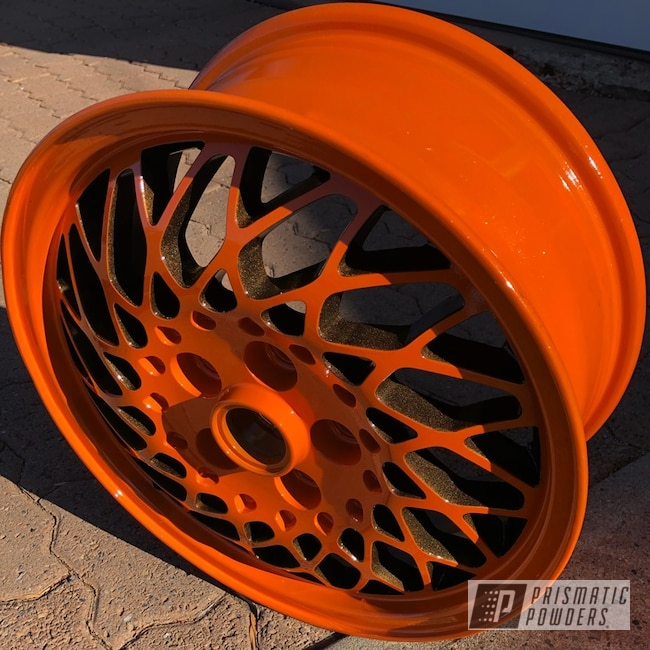 Powder Coating: Wheels,Automotive,Pumpkin Gold PMB-4132,Bronze Chrome PMB-4124,Factory,#orangecontest