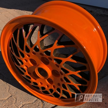 Powder Coated Orange And Bronze Factory Wheels