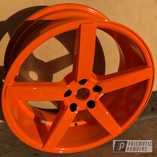 Powder Coating: Wheels,Automotive,Pumpkin Gold PMB-4132,#orangecontest