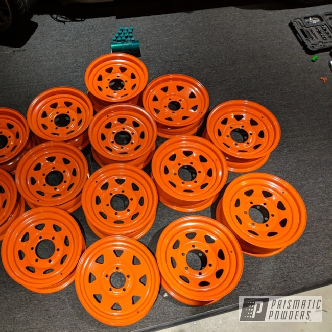 Powder Coating: Wheels,halloween,Just Orange PSS-4045