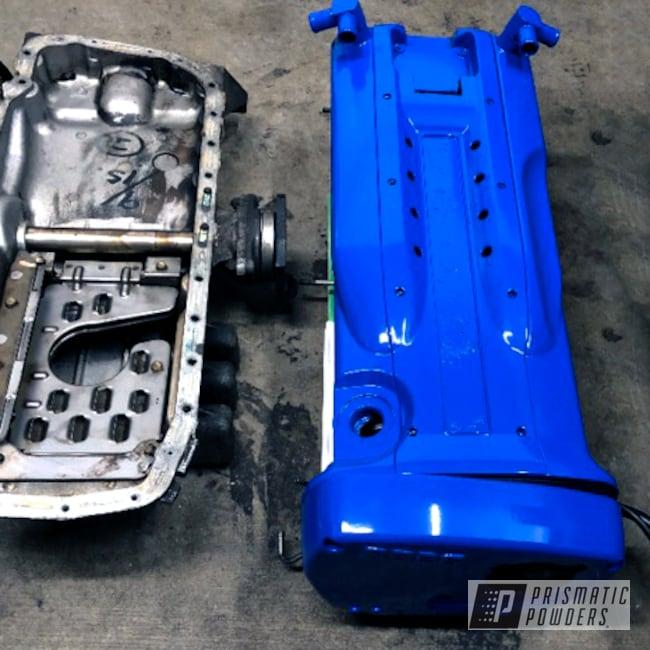 Powder Coating: Automotive,Nissan,Valve Covers,Skyline,RB26,Nissan Valve Cover,RAL 5005 RAL-5005,Valve Cover,Engine Cover