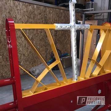 Powder Coated Semi Truck Bumper