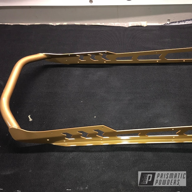 Powder Coating: Clear Vision PPS-2974,Bumper,Prismatic Gold HMB-4137