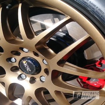 Gold Powder Coated Bmw Wheels