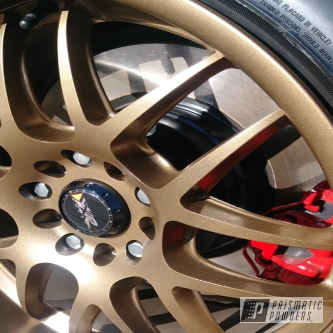 Gold Powder Coated Bmw Wheels
