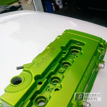 Green Powder Coated Dohc Honda Valve Cover