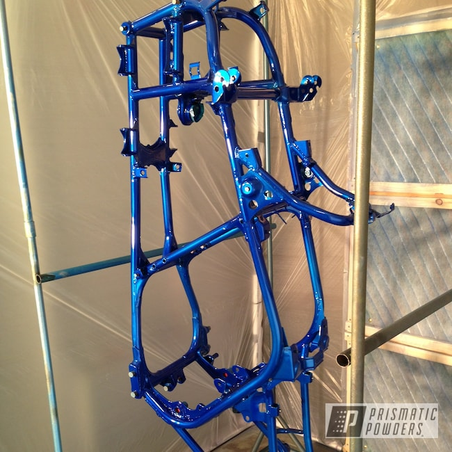Powder Coating: Custom ATV Frame,Clear Vision PPS-2974,ATV,Banshee,Yamaha,Powder Coated Frame,Illusion Blueberry PMB-6908