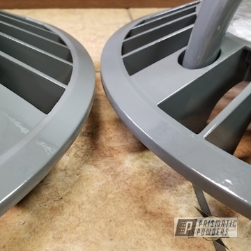 Grey Powder Coated Light Fixtures