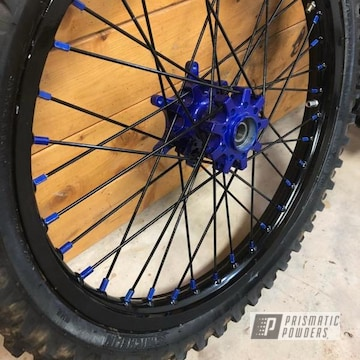 Blue Powder Coated Dirtbike Hubs