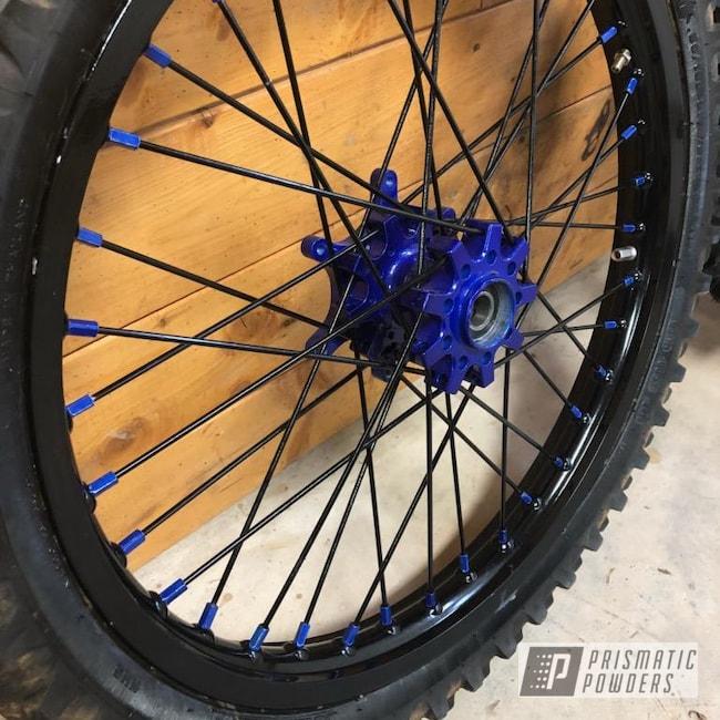 Powder Coating: Wheels,Dirtbike Hubs,Custom Dirtbike Wheels,Motorcycles,Intense Blue PPB-4474