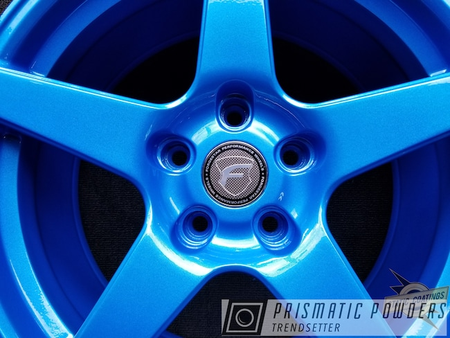 Powder Coating: Wheels,Automotive,Clear Vision PPS-2974,Illusion Lite Blue PMS-4621,Forgestar