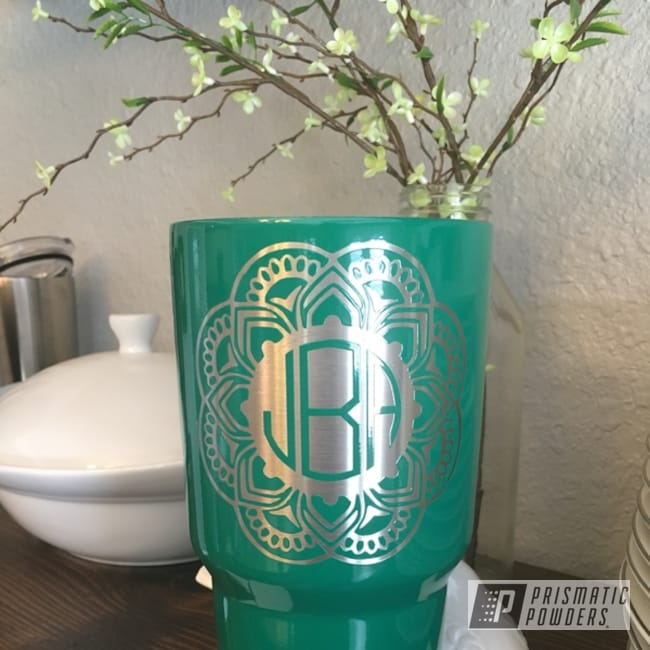 Powder Coating: Torque Green PSS-2393,Mandolin,Single Color Application,Powder Coated Yeti Cup,Miscellaneous