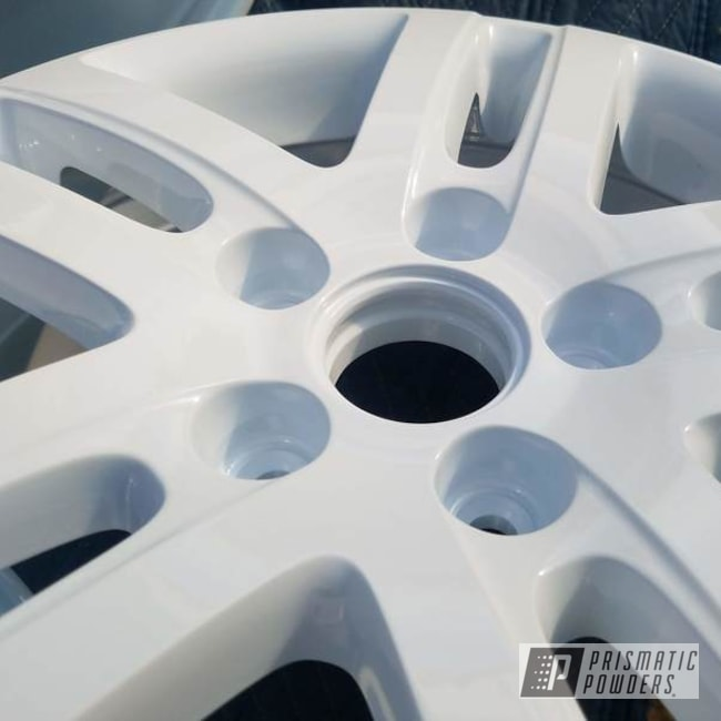 White Powder Coated Wheels