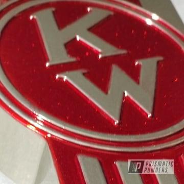 Powder Coated Kenworth Semi Truck Emblem