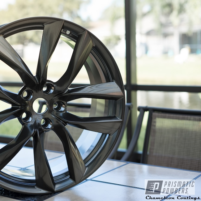 Powder Coating: Wheels,Black Chrome II PPB-4623,Automotive,SUPER CHROME USS-4482,Tesla,21Wheel,Models