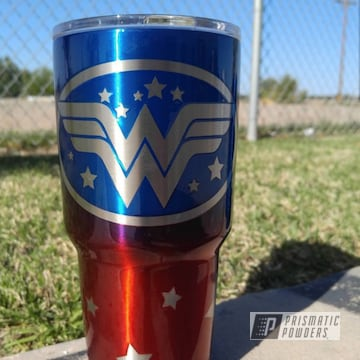 Powder Coated Yeti Cup In A Wonder Woman Theme