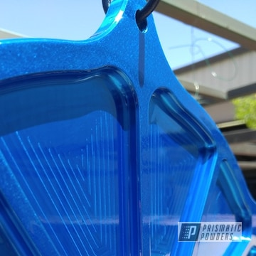Blue Powder Coated Boat Parts