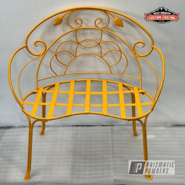 Yellow Powder Coated Chair