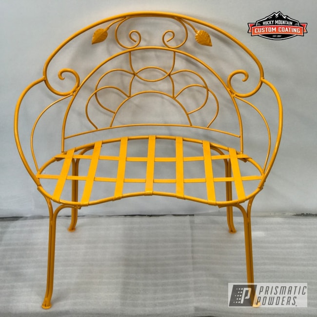Powder Coating: Bench,Antiques,Patio Chair,chair,Antique Chairs,Hot Yellow PSS-1623