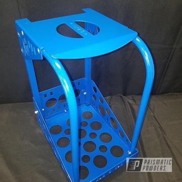 Powder Coated Blue Tool Cart
