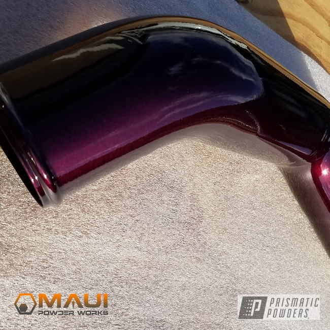 Powder Coating: Custom,Automotive,Truck,Clear Vision PPS-2974,Intercooler Pipes,Pipes,Illusion Malbec PMB-6906,Show