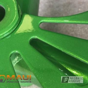Custom Powder Coated Green Bicycle Frame