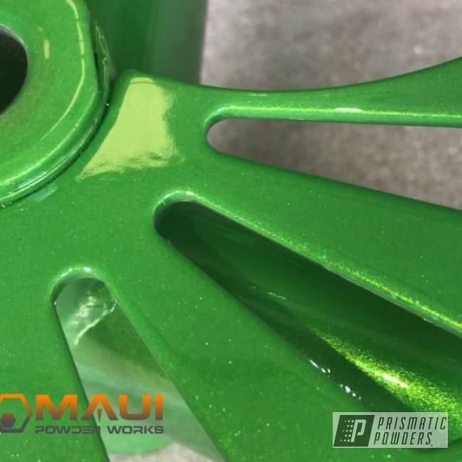 Powder Coating: Bike Frame,Psycho Green PPB-4658,one of a kind