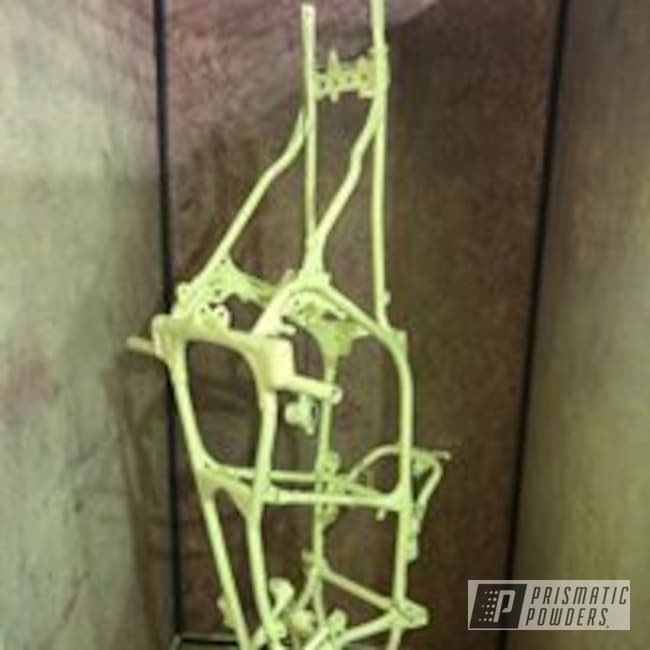 Powder Coating: ATV,Banshee,Yamaha,Neon Yellow PSS-1104,Frame,Neon,yellow