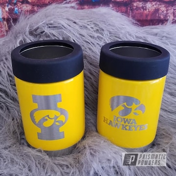 Powder Coated Drinkware In A Classic Signal Yellow