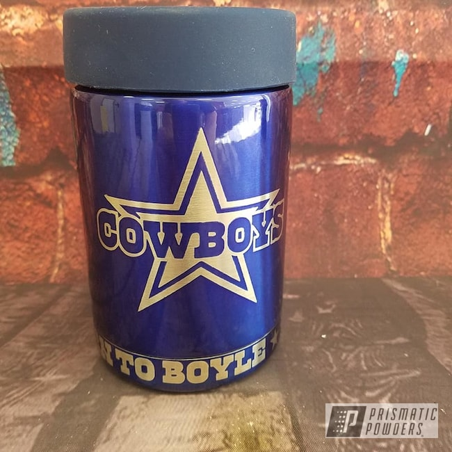 Powder Coating: Football Theme,Drinkware,Dallas Cowboys,Intense Blue PPB-4474,NFL,Can Koozie,NFL Football