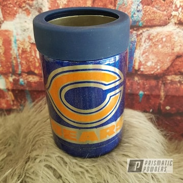 Powder Coated Chicago Bears Themed Kan Koozie