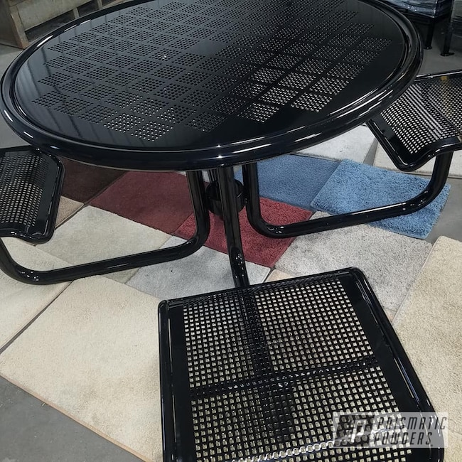 Powder Coating: Powder Coated Furniture,Custom Furniture,Patio Furniture,Ink Black PSS-0106,Table